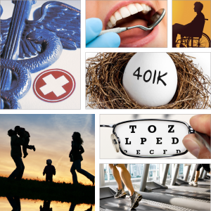 Montage of images of available benefits